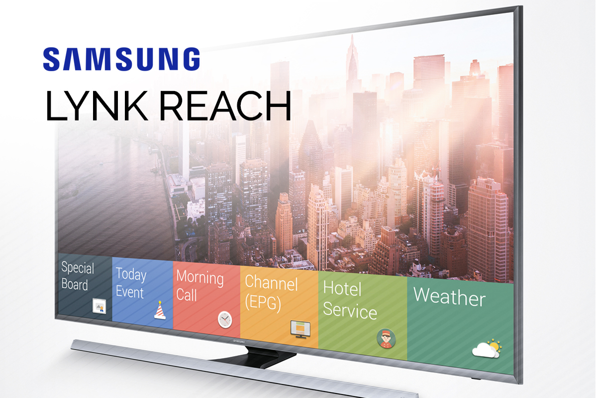 Samsung Commercial Displays >> Samsung LYNK REACH® | Hospitality TV Management System